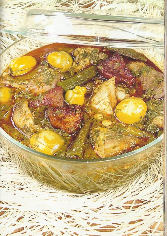 Aïman dessi (Sauce aux feuilles de haricots).